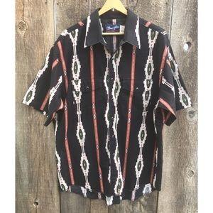VTG 80s-90s Wrangler Brushpopper Western Shirt, XL